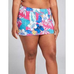 NEW Cacique Lane Bryant Swim Skirt Bottom Hi-Rise